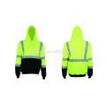 As / nzs classe d / n vêtements de travail réfléchissants sweat-shirt à capuche bonjour vis vêtements de travail vêtements de sécurité 100% polyester polaire