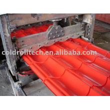 Roofing Steel Glazed Roof Tile Máquina formadora de rollos
