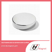 High Quality Neodymium Permanent Disc Magnet with N35-N52