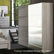 Dormitorio organizado 2 puertas espejo armario deslizante (WB69)