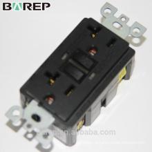 Barep 20A 125V com classificação UL, tomada GFCI inviolável, gfci branco 20A