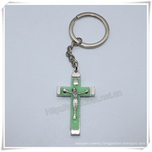 Cross Key Chain, Manufactory Production Cheap Metal Cross Keyring, Cross Key Chains, Cross Keychain (IO-ck105)