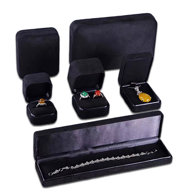 Black Material for Jewelry Set Box