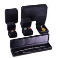 Microfiber Suede black material for jewelry set box
