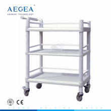 AG-UTB06 abs hospital durable tres capas de plástico carro de utilidad