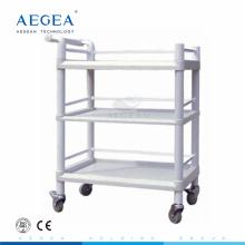 AG-UTB06 abs durable hospital three layers plastic utility cart
