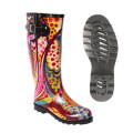 Women Rain Rubber Boot with Adjustable Buckle
