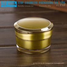 Ouro brilhante de 30g de YJ-S30 colorido 1oz Acrilicos atarraxamento redondo cosméticos creme