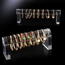 Estante de exhibición de acrílico transparente modificado para requisitos particulares del contador de la pulsera