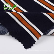 Plain dyed stripe printed 100 rayon dress fabric