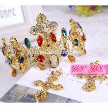 Corona caliente de los accesorios del pelo de la princesa del metal de la manera del rey de la venta