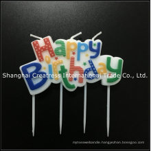 Free Sample Policy 100% Paraffin Costom Made Rainbow Art Happy Birthday Plaque Candle