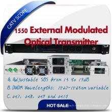 Hfc Network 1550nm Transmetteur à fibre optique Transmetteur à modulation externe