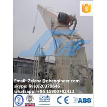 stiff boom crane with a rigid arm system