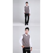 Yak Wolle / Kaschmir V-Ausschnitt Pullover Weste / Kleidung / Garment / Strickwaren