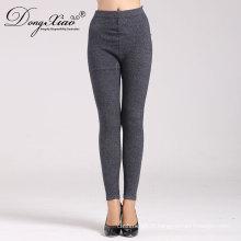 pantalons en gros de jambe droite en cachemire tricoté