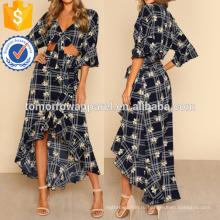 Волан рукавом Растениеводство топ и с оборками юбка Производство Оптовая продажа женской одежды (TA4116SS)
