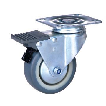 Rodízio da placa de 2 polegadas com a roda do fechamento TPE
