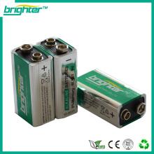 Volle Leistung hohe Kapazität 6f22 6lr61 9v Batterie