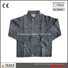 Popular 100% Cotton Work Black Denim Jacket