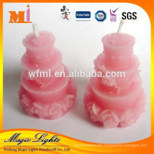 No dripping wax eco-friendly wax cake shaped candles