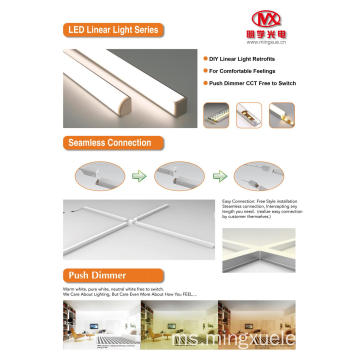 lampu linear DIY 4ft 3ft 2ft