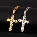 Croix latine pendentif 2015 nouvelle tendance Platinum / 18K or plaqué strass lunettes femmes/hommes Bijoux Collier pendentif gros