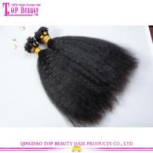 Top-Qualität verworrene gerade Haarverlängerung 100% unverarbeitete menschliche reine brasilianische Mikro-Ring-Schleife Haarverlängerungen