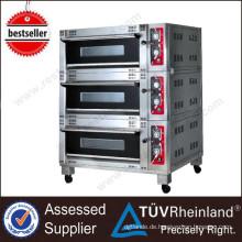 Kommerzielle Restaurant Ausrüstung Luxus 3-Schicht 6-Fach-Elektro-3-Deck-Ofen