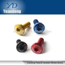 M5 anodized aluminum flat head screws