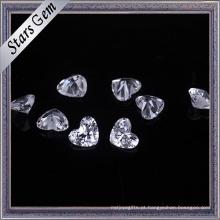 Zircônia cúbica de forma de coração bonito para jóias
