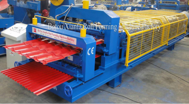 glazed double forming machine