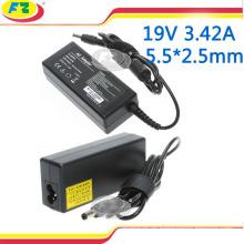 Cargador para asus 19v 3.42a 65w 5.5 * 2.5mm adaptador del cargador de la energía del cuaderno