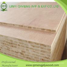Natureza Folheado ou Melamina Papel Face 16-18mm Block Board Block Board Contraplacado com Móveis Usando