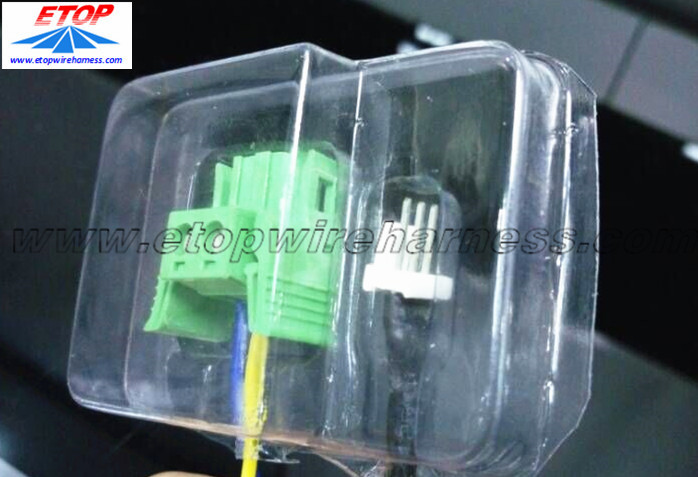 cable with plastic container