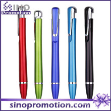 Streamline Shape Cheap Clip Ballpoint Pen Metal Luster Ball Pen