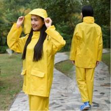 Yj-6086 Jaune Bleu Polyester Unisexe Rain Suit Rains Vêtements Ladies Raincoats