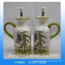 High-quality ceramic olive oil and vinegar bottle