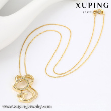 43063- Xuping Personalized Cute Pendant Mouse Necklace