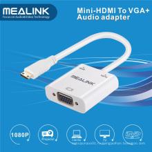 Мини-HDMI к VGA+3.5 мм аудио кабель адаптер