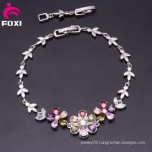 Elegant Jewelry Design Flower Shape Stones Bracelet for Women
