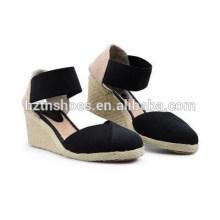 Охрана окружающей среды клинья сандалии удобный досуг европейский и американский ветер джокер пенька женская обувь большие ярды