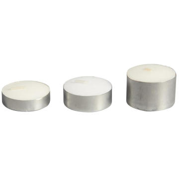 Aoyin Brand Aluminum Cup White Tea Light Candle