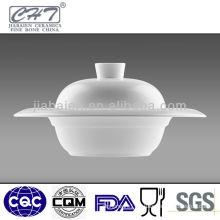 Fine bone china porcelain soup tureen with lid