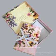 Цветы Keepsake Примечание Установить Keepsake Box с заметками и конверты