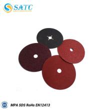 Disco de fibra de óxido de aluminio SATC con agujero redondo y transversal
