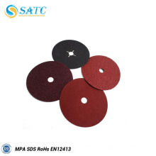 Disco de fibra de óxido de alumínio SATC com furo redondo e cruzado