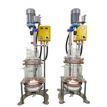 High quality 1L-5L Jacketed Glass Bioreactor vacuum filtration system cbd