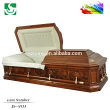 JS-A933 vente bien resonable prix cercueil en bois