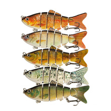 Fishing Tackle Deep Diving Lures Bass Multi Jointed Artificial Plastic Hard Swim Bait 19g